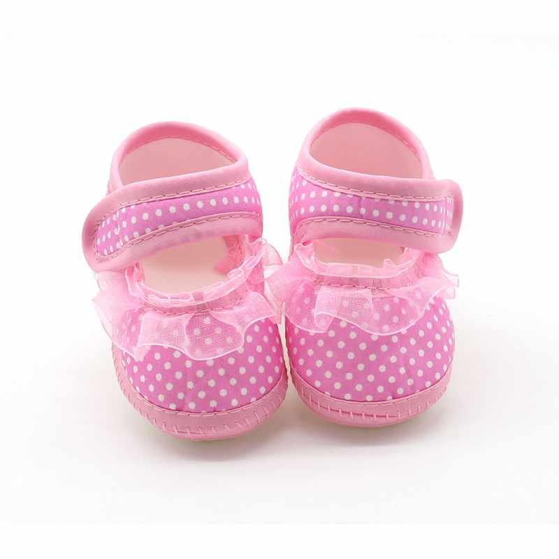 Kids Baby Shoes Lace Newborn baby boy Girls Booties Polka Dot Baby Shoes for Newborn Girls Shoes