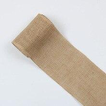 1 ярд однотонная льняная лента, материалы ручной работы для изготовления домашнего текстиля банты для волос подарочная упаковка, 1Yc9225