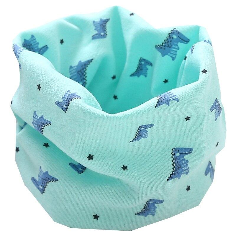 Осенне-зимний детский хлопковый плюшевый шарф, детский шарф для девочек, шарфы для мальчиков и девочек, детский воротник, детский волшебный шейный платок с круглым вырезом - Цвет: new green dinasour
