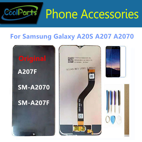 6.4 Inch For <font><b>Samsung</b></font> <font><b>Galaxy</b></font> <font><b>A20S</b></font> A207 A2070 SM-A2070 SM-A207F A207F <font><b>LCD</b></font> Display + Touch <font><b>Screen</b></font> Glass Sensor Digitizer With Kits image
