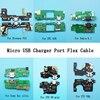 10 יח'\חבילה USB טעינת נמל מחבר שקע מטען לוח Flex כבל עבור Hisense F24 HTC626 Nokia6.1 Sony xa1ultra ZTE V8mini v8Q