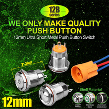 12mm 4 position selector mechanical waterproof micro push button switch for kitchen hood(China)