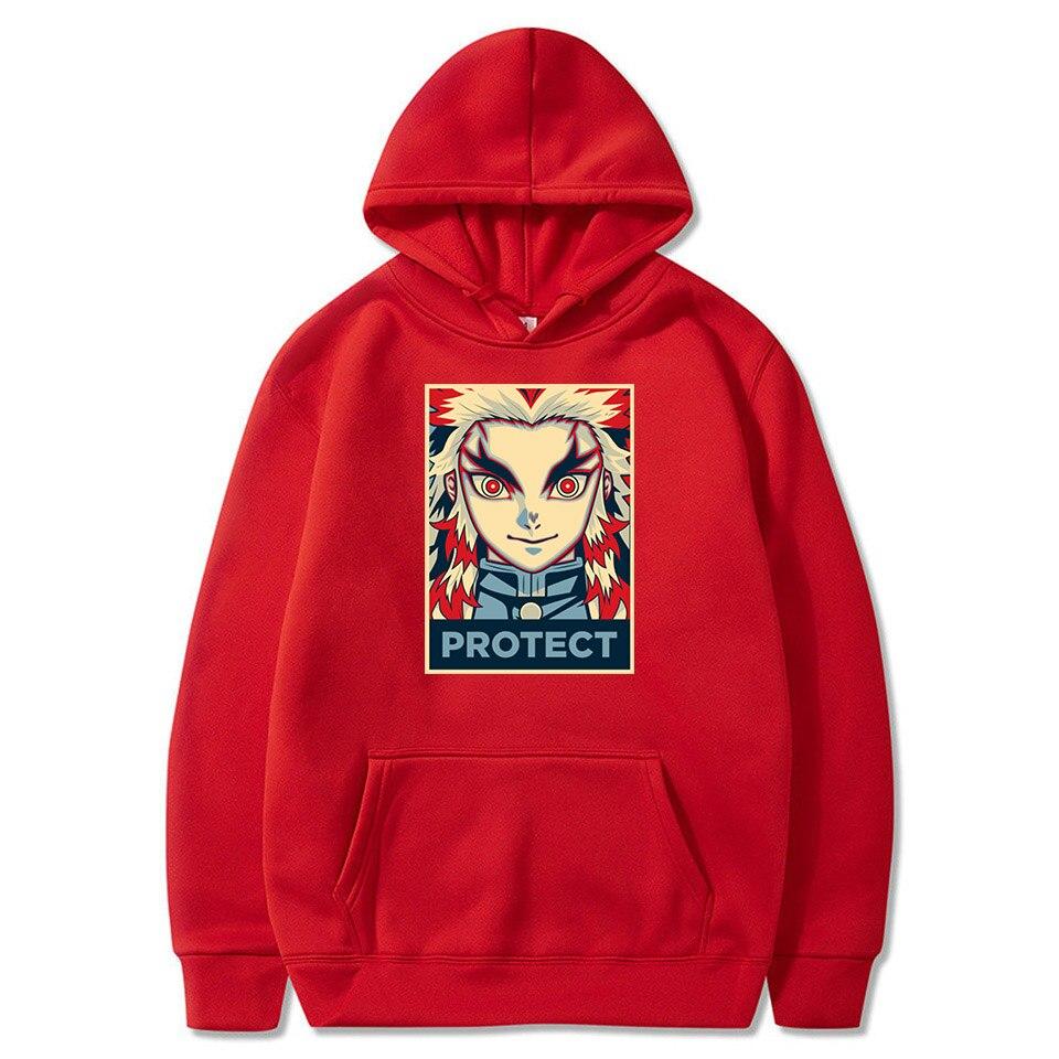 YICHEN Sweats Demon Slayer Kimetsu no Yaiba Sweats /à Capuche Signature Pulls pour Les Fans Hommes Femmes Sweat-Shirts /à Manches Longues Hoodie