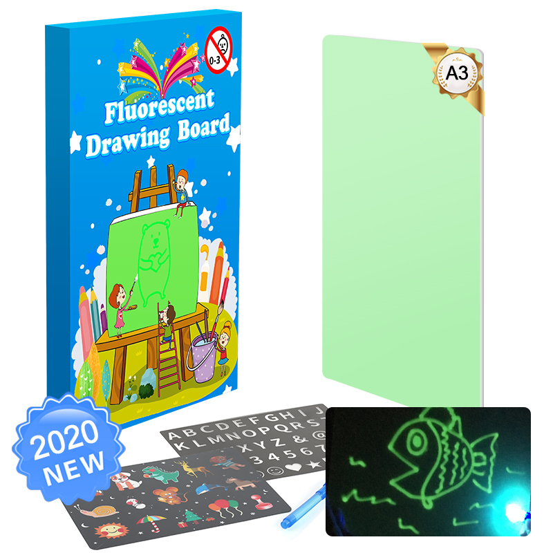 A3 Educational Toy Drawing Board Tablet Graffiti Led Luminous Magic Raw With Light-fun children gift