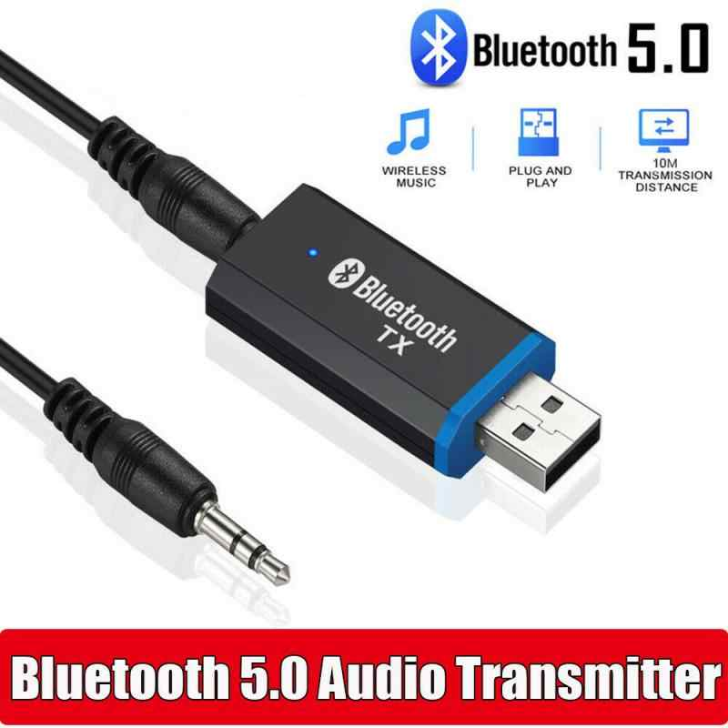 Bluetooth 5.0 Audio-ontvanger Zender Mini Stereo Bluetooth Aux Usb 3.5Mm Jack Voor Tv Pc Auto Aux A3 Kit draadloze Adapter