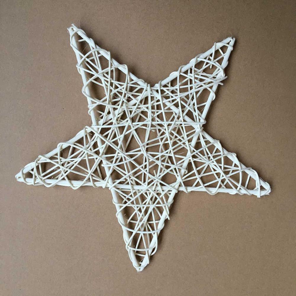 Árbol de Navidad Natural ratán vid DIY estrella guirnalda fiesta Navidad árbol ventana decoración adorno hogar boda