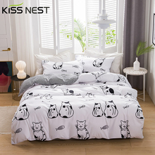 KISS NEST Home Textiles Bedding 3-Piece Duvet Cover Set 100% Microfiber Sanding AB side different design 240x220 200x200 135x200