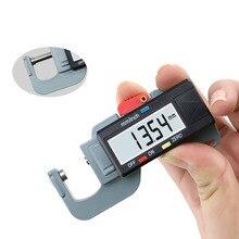 Точный Цифровой толщиномер метр тестер микрометр боковой толщиномер для кожи стальной пластины ткань 0-12,7 мм/0,01 мм