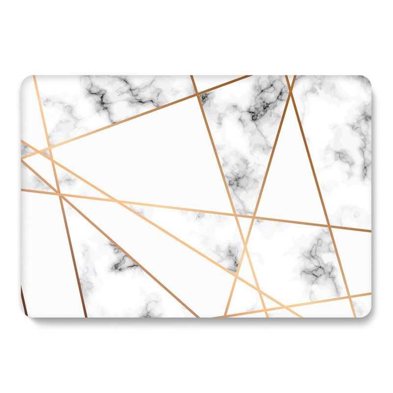 Mermer kılıf için Macbook hava 13 inç A1932 2018 sert kabuk şeffaf şeffaf mat Glitter kapak için Mac kitap hava 13 A2179 2020