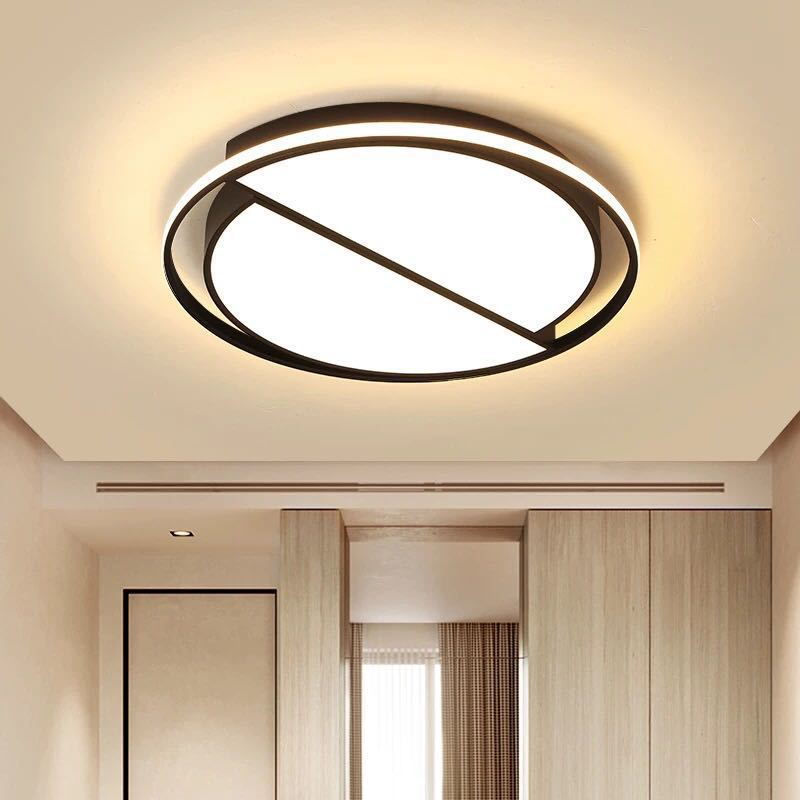 New Style Creative LED Bedroom Lamp Modern Minimalist Circle Ultra-Thin Master Bedroom Ceiling Lamp Library Ceiling Lamps