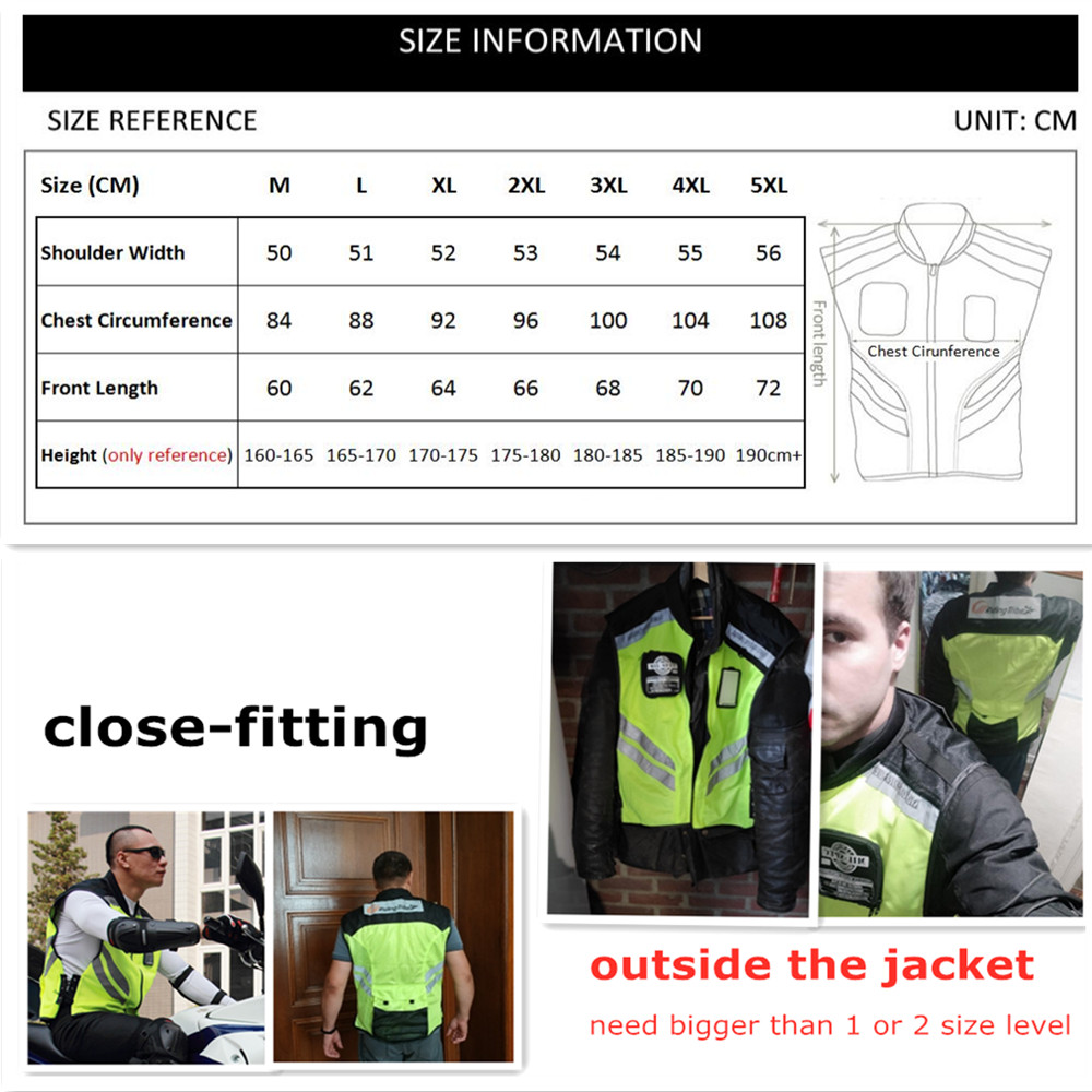 Image 5 - Motorcycle Jacket Reflective Vest High Visibility Night Shiny Warning Safety Coat for Traffic Work Cycling Team Uniform JK 22Jackets   -