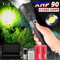 XHP70.2 linterna LED recargable XHP90 USB XHP70 potente antorcha super impermeable Zoom caza luz uso 18650 o 26650 Battey