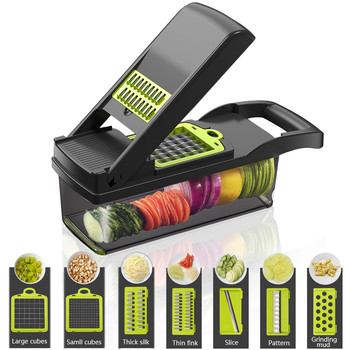 Vegetable Cutter Kitchen Accessories Slicer Fruit Cutter Potato Peeler Carrot Cheese Grater Vegetable Slicer With Drain Basket vegetable cutter kitchen accessories tools fruit potato peeler carrot cheese grater vegetable slicer kitchen accessories
