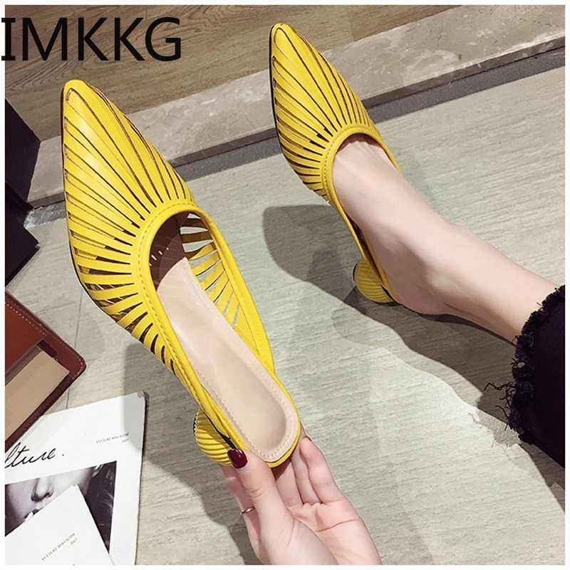2019 Summer New Designer Slippers Women Mules Shoes Fashion Stripe Slides Ladies Brand Mules Female Luxury Slippers F90099
