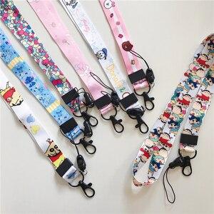 Image 3 - Wholesale cartoon pattern pendant lanyard key ID gym with USB badge clip DIY mobile phone hanging neck rope