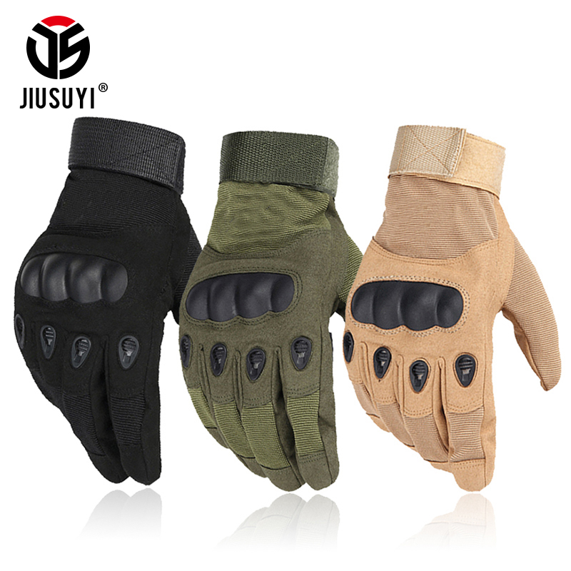 Tactical Military Army Paintball Airsoft Combat Shooting Bicycle Motorcross Work Winter Warmer Hard Knuckle Full Finger Gloves