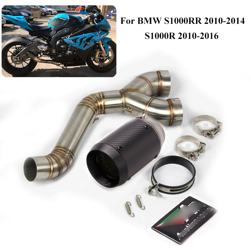 S1000RR Exhaust System Muffler Silencer Tip Tail Pipe for BMW S1000RR 2010-2014