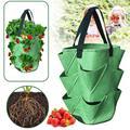 Контейнер для выращивания клубники, пакет «сделай сам» для посадки полиэтиленовых тканей, растений, овощей, садоводства, утолщенный горшок,...