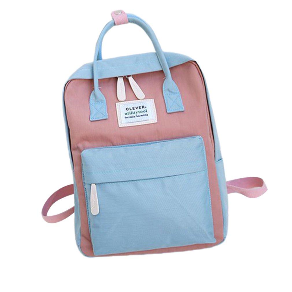 Women Canvas Backpacks Candy Color Waterproof School Bags For Teenagers Girls Big Cute Laptop Backpack Patchwork Korean Backpack