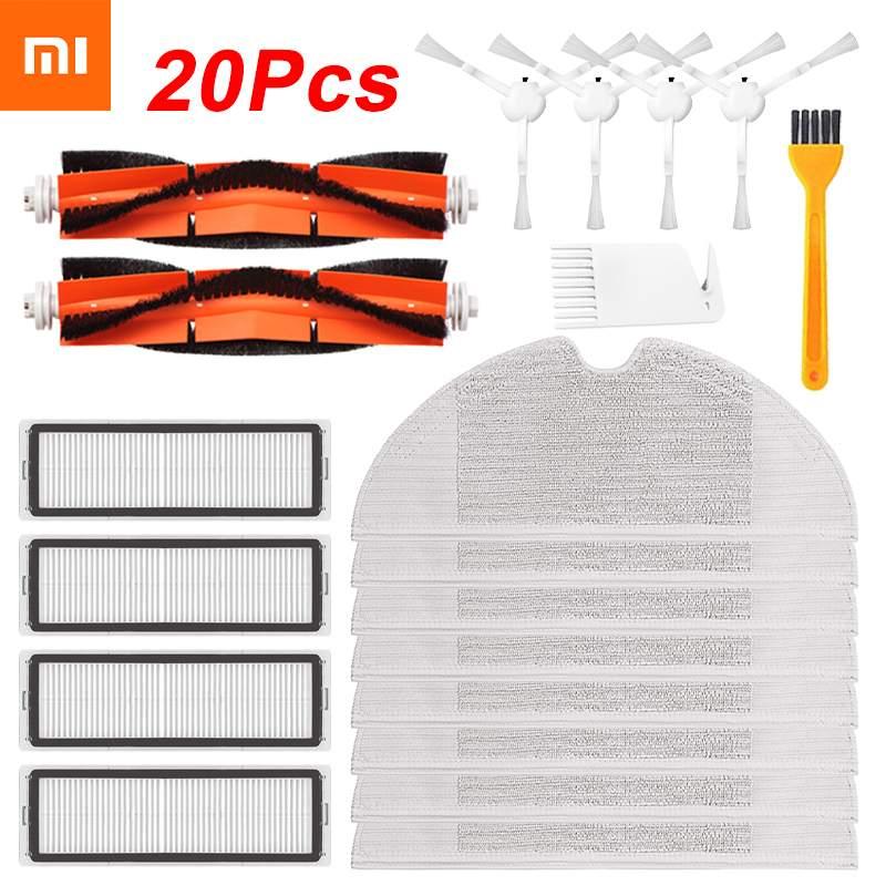 20/14/8 pièces Hepa filtre brosse principale vadrouille tissu Kits de remplacement pour Xiaomi Mijia 1C / STYTJ01ZHM Robot aspirateur accessoires