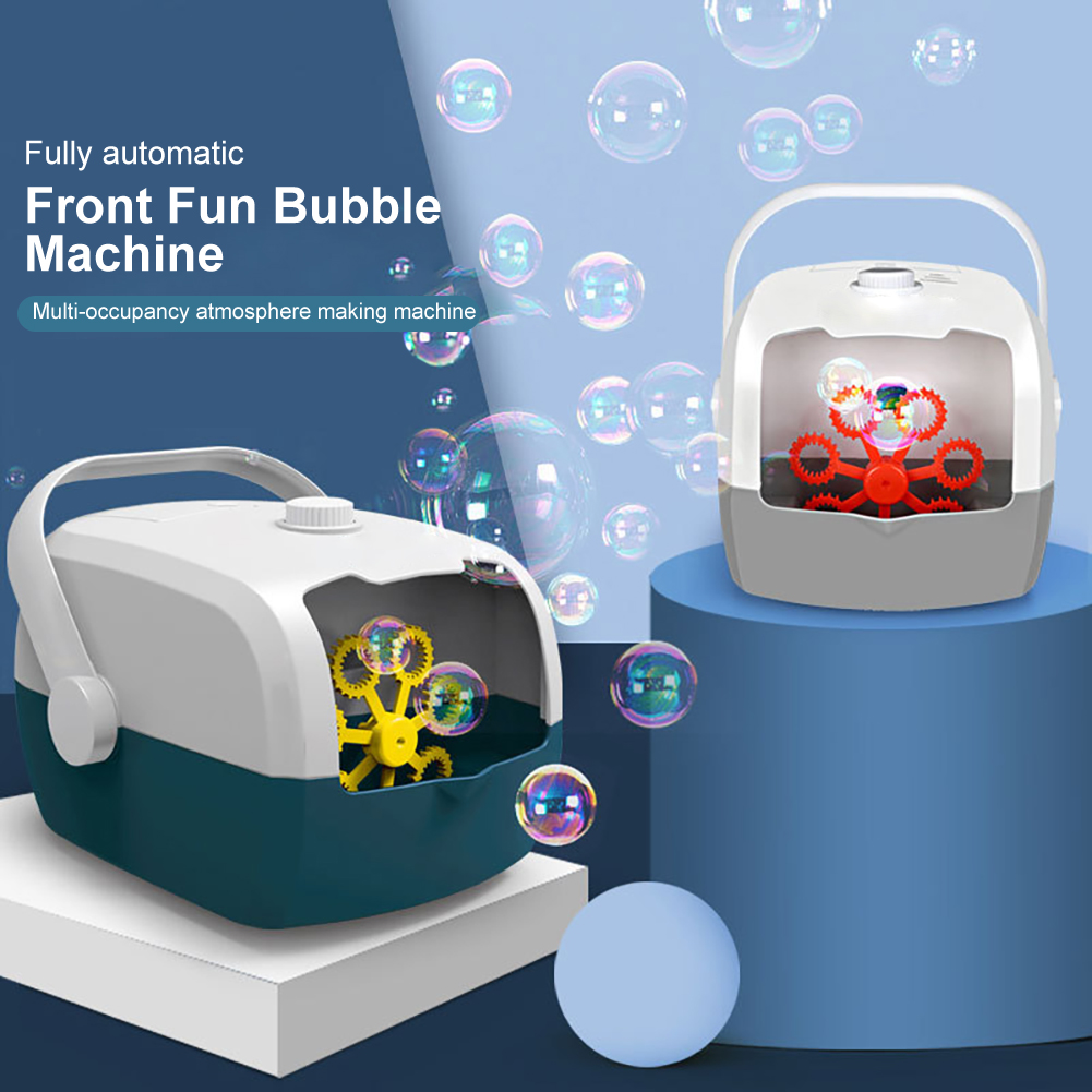 Automatic Electric Bubble Machine Bubble Maker Machine Bubble Blowing Toys Machine For Children Kids Soap Bubbles