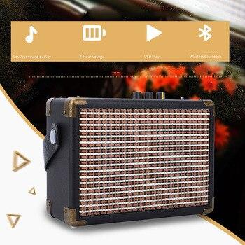 Portable retro outdoor bluetooth speaker radio U disk TF card play small stereo