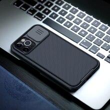 IPhone 12 11 Pro Max durumda NILLKIN CamShield durumda slayt kamera kapağı gizlilik korumak klasik arka kapak için iPhone11 12 mini