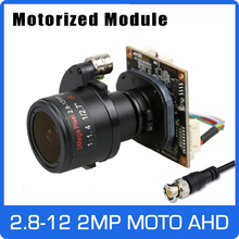 Motor 4x ahd câmera 1080p 2.8 12mm zoom & lente focal automática sony cmos utc coaxial osd placa do módulo de controle frete grátis