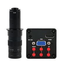 SONY IMX307 13MP 1080P HDMI VGA HD 60F/S תעשיית וידאו מיקרוסקופ מצלמה 130X/150X/180X/200X/300X זום c mount עדשה