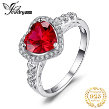 2.48ct Pigeon Blood Red Ruby Ring Women Romantic Heart Wedding Set Fine Jewelry 925 Solid Sterling Silver Brand New Fashion