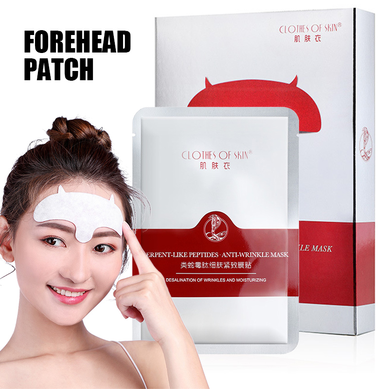 10pcs Forehead Mask Anti-Wrinkle Patch Overnight Smoothing Wrinkle Resisting Pads For Men Women HB88