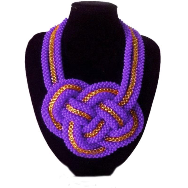 4 ubijoux mode bijoux ensemble femmes accessoires collier pour mariée violet or mariage africain croix bijoux ensemble 2019