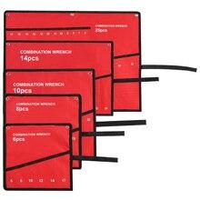 Портативный мульти-карманный рулон инструментов сумка для хранения гаечный ключ и плоскогубцы гаечный ключ держатель тканевый органайзер Инструменты аксессуар красный