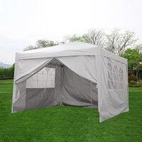 بانانا مقاوم للماء 3x3 متر المنبثقة أكشاك سرادق حديقة المنزل المظلة خيمة حفلات التخييم المظلة إطار فولاذي التسليم السريع