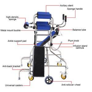 Image 2 - MHKBD 6 bánh xe Đi Bộ Viện Trợ Anh Cả Walker Tuổi Người Tập Đi Hình Đi Bộ Phục Hồi Chức Năng Thiết Bị Chống lạc hậu Rollover Kệ