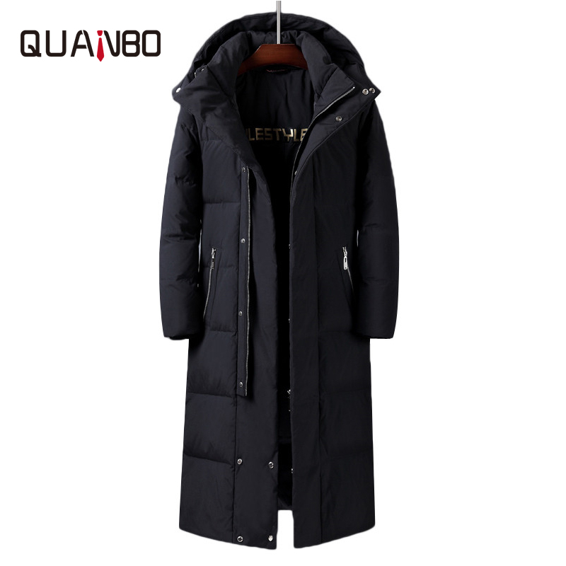 Mens Women X-Long White Duck Down Jackets 2019 New Winter Over The Knee Thicken Warm Detachable Hat Male's Jackets Canada Coat