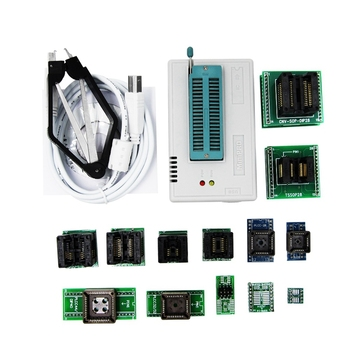Mini Pro Tl866Ii Plus Programmer +13Adapters +Sop8 Clip 1.8V Nand Flash 24 93 25 Mcu Bios Eprom Avr Program