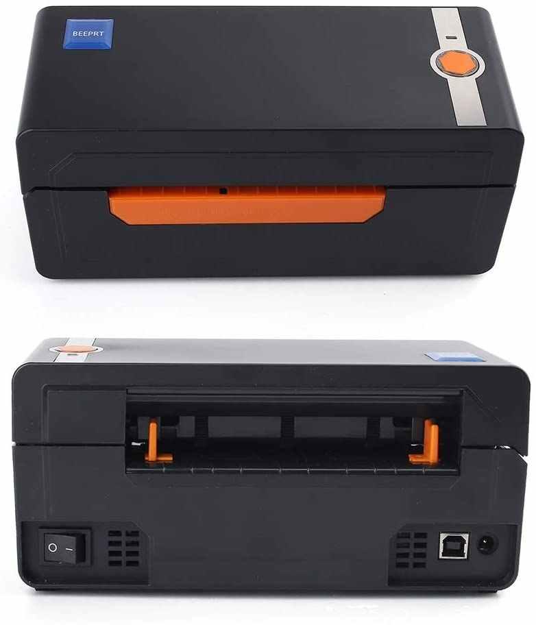 Thermal Barcode Label Printer Bluetooth USB 4*6 Pengiriman Printer Kompatibel EBay Amazon Shopify Termal Mesin Sticker