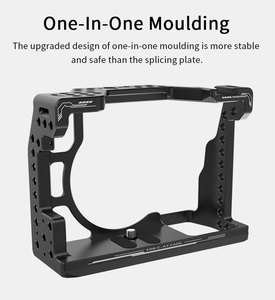 Image 2 - UURig C A73 Camera Cage for Sony A7III Standard Arca Style Quick Release Plate with Top Handle Grip for Sony a7iii A7R3 A7M3