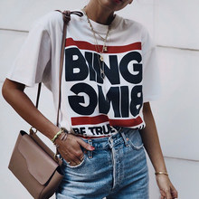 Letter Print Boho Tees Women Summer Short Sleeve Round Neck Cotton T-Shirts Shirts Casual Vintage Cozy Soft Tshirts Tops 2021