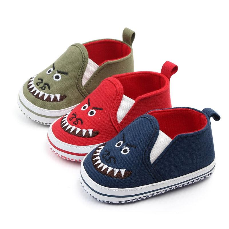 Toddler Boy Canvas Shoe Baby Boy Loafer Sneaker Infant Slip On Prewalker Cartoon Baby Shoe For 0-12 Month Babies
