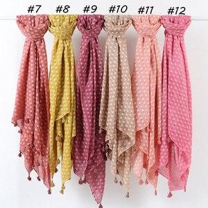 Image 3 - Écharpe hijab surdimensionnée en coton uni