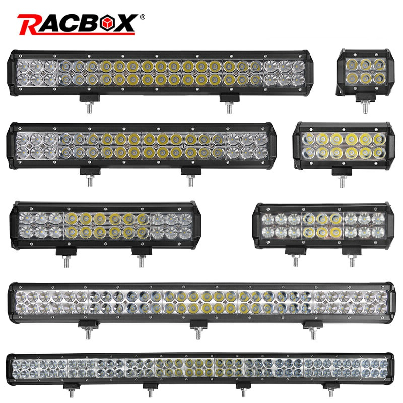 4 7 9 12 17 20 28 36 44 Inch Off Road LED Light Bar Combo Beam Barra Led Bar Offroad 12V 24V LED Work Light For 4x4 UAZ ATV SUV