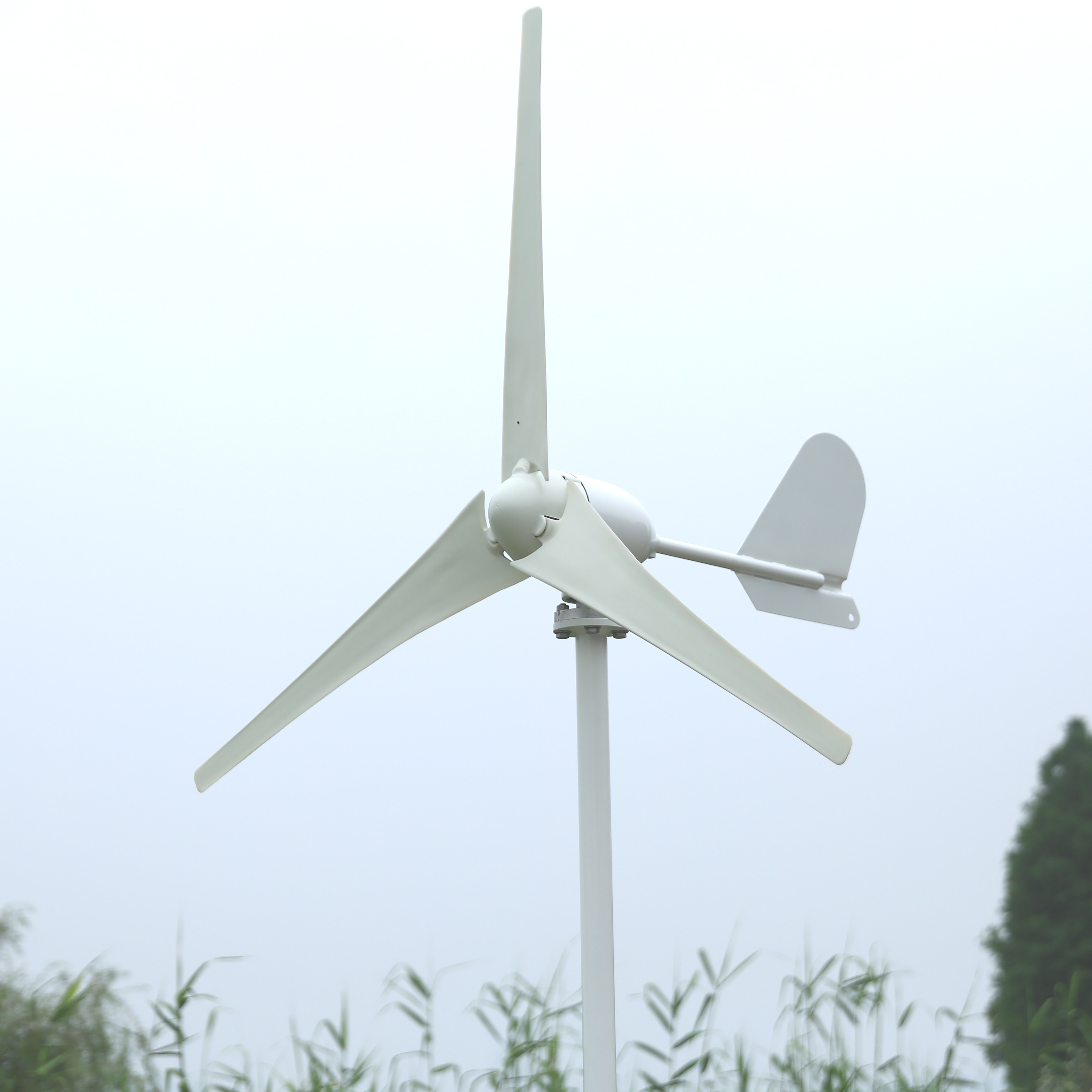 High-Efficiency 500W Horizontal Axis AC Wind Turbine 12V Or 24V For Boat