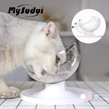 MySudui Anti-Slip Cats Bowl For Dogs Pet Dish Rounded Separable Cat Food Water Dispenser Cats Bowls Feeders Mascotas Dla Psa(China)