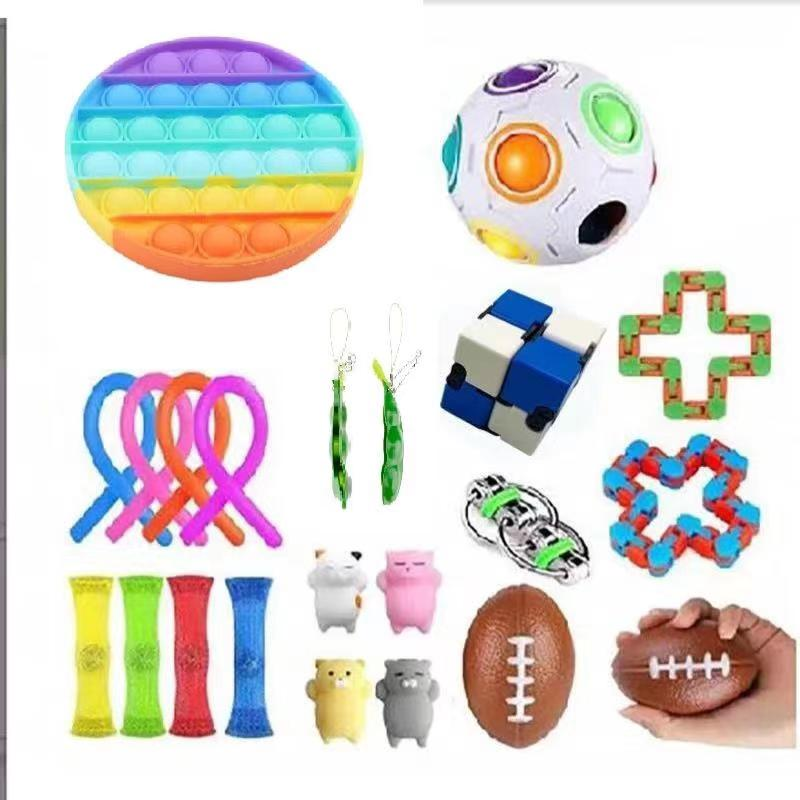 23 Pack Fidget Toys Stress Relief Toys Autism Anxiety Relief Stress Pop Bubble Fidget Sensory Decompression Toy for Kids Adults