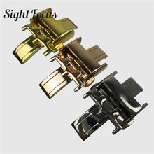 16mm 18mm Stainless Steel Butterfly Buckle for Longines Master Leather Watchband Deployment Folding Clasp Accessories Watch part stainless steel deployment clasp silver 18mm watchband leather strap folding buckle butterfly buckles for omega accessories