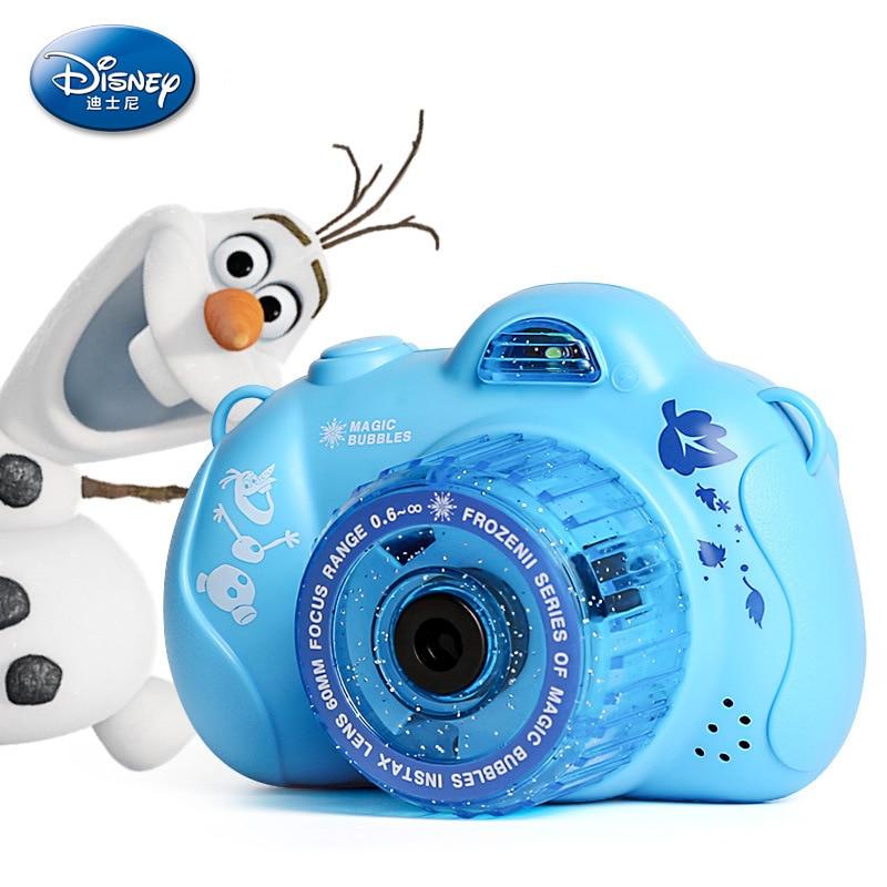 Disney Frozen  Princess Elsa Summer Automatic Camera Bubble Maker Party Bubble Machine Mickey Mouse Fan Kids Outdoor Toys