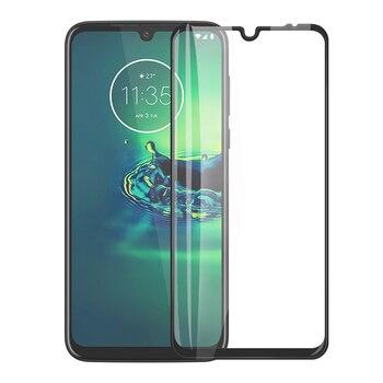 Перейти на Алиэкспресс и купить Полное покрытие закаленное стекло для Moto G8 G7 Plus E6 Plus G8 G6 P30 Play Защита экрана для Moto G8 G7 G6 E6 One Zoom Macro Film