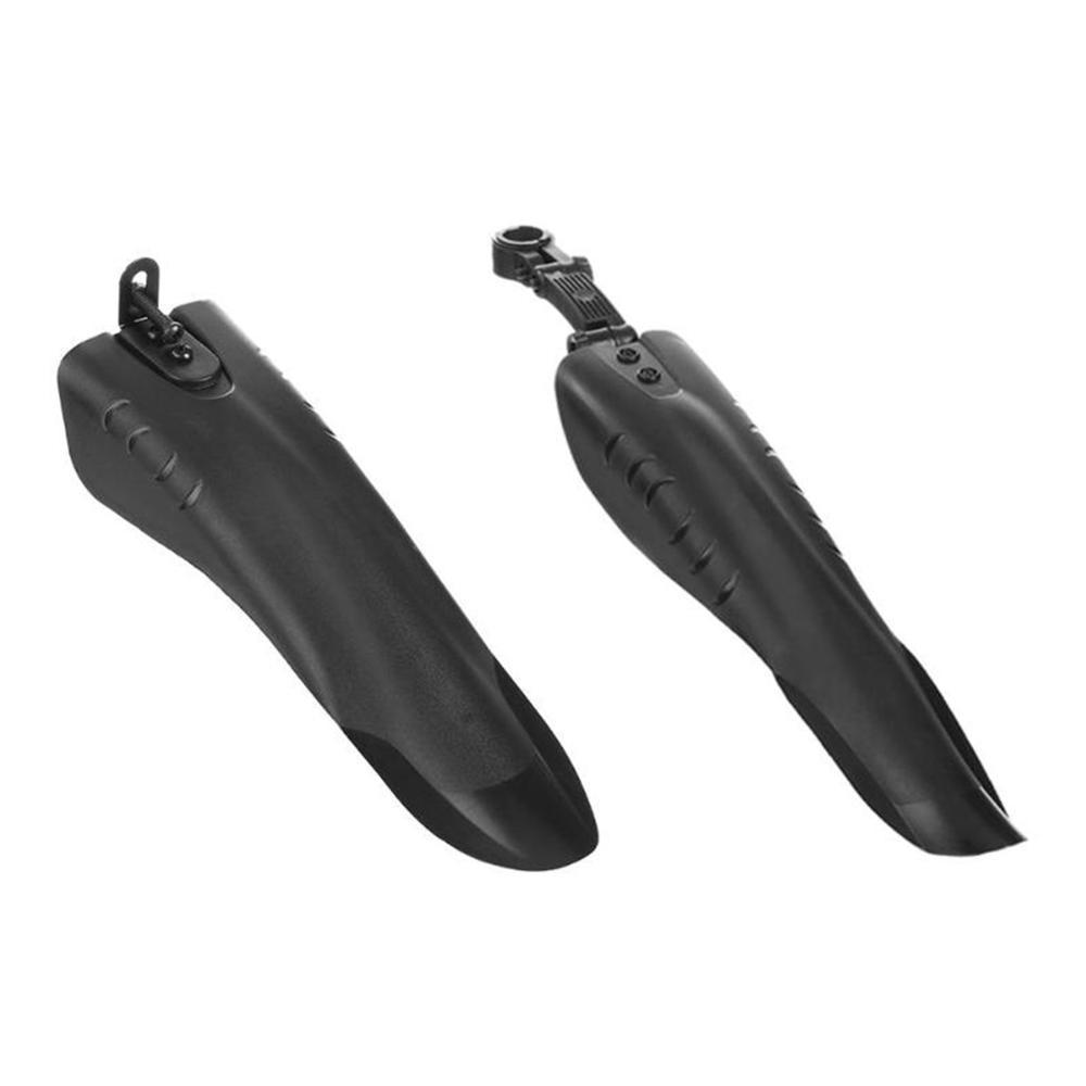 Купить с кэшбэком 2Pcs Bicycle Mudguard MTB Bike Fender Mud Guards Wings For Cycling Front Rear Fenders Easy To Assemble Lightest Bike Accessory